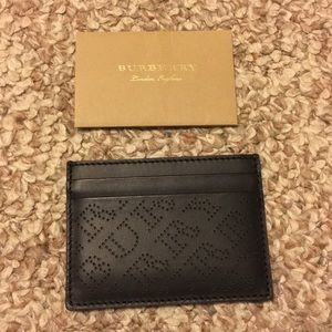 Burberry Logo Leather Card Case